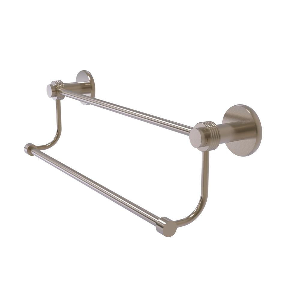 Mercury Collection 36 in. Double Towel Bar with Groovy Accent in