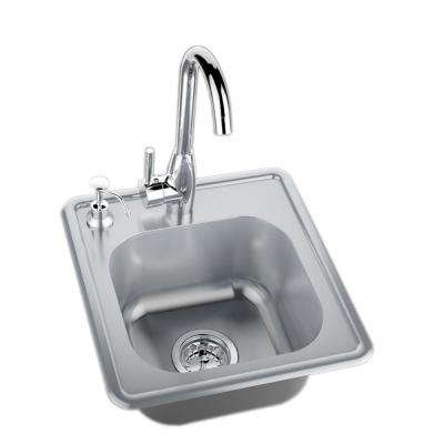 stainless steel outdoor sink. 304 Stainless Steel Single Sink With Cold And Hot Water Faucet Outdoor