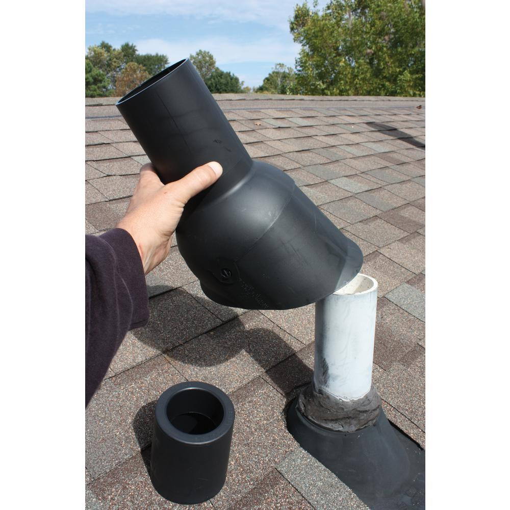 Perma Boot Pipe Boot Repair For 2 In I D Vent Pipe Black Color Pbr 312 2bk The Home Depot