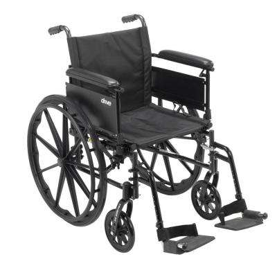 Cruiser X4 Lightweight Dual Axle Wheelchair with Adjustable Detachable Arms, Full Arms and Swing Away Footrests