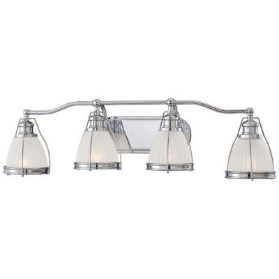 4-Light Chrome Traditional Bath and Vanity Light