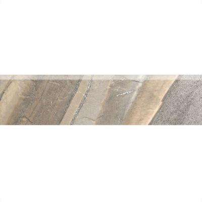 Ayers Rock Majestic Mound 3 in. x 13 in. Glazed Porcelain Bullnose Floor and Wall Tile