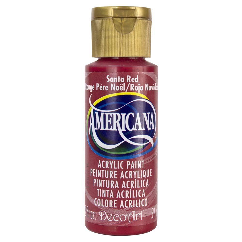 Americana 2 oz. Santa Red Acrylic Paint