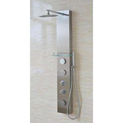 VS-2001 37 in. H x 8 in. W x 21 in. D Full Install 3-Jet Shower Panel System in Stainless Steel