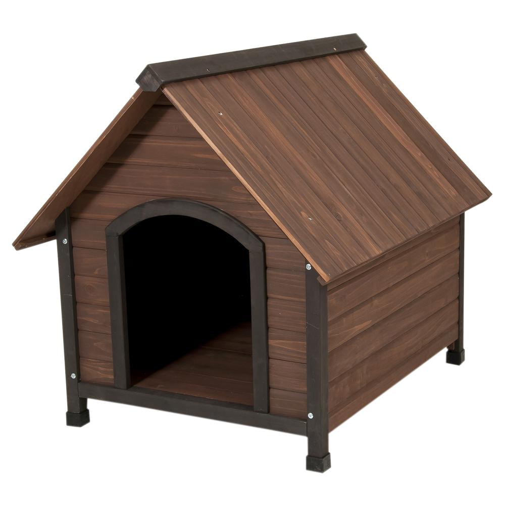 Aspen Pet Ruff Hauz Peak Roof Dog House, 50 to 90-Pound