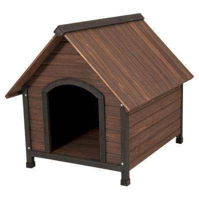 34.32 in. x 38.52 in. x 31.8 in. Ruff Hauz Peak Roof Dog House