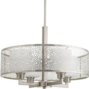 mingle collection 4light brushed nickel pendant