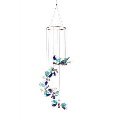 36 in. Blue Butterfly Hanging Decor