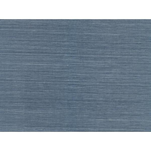 A-Street 8 in. x 10 in. Lamphu Blue Grasscloth Wallpaper Sample