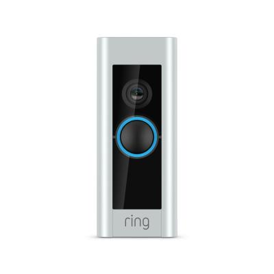 1080P HD Wi-Fi Video Wired Smart Door Bell Pro Camera, Smart Home, Works with Alexa