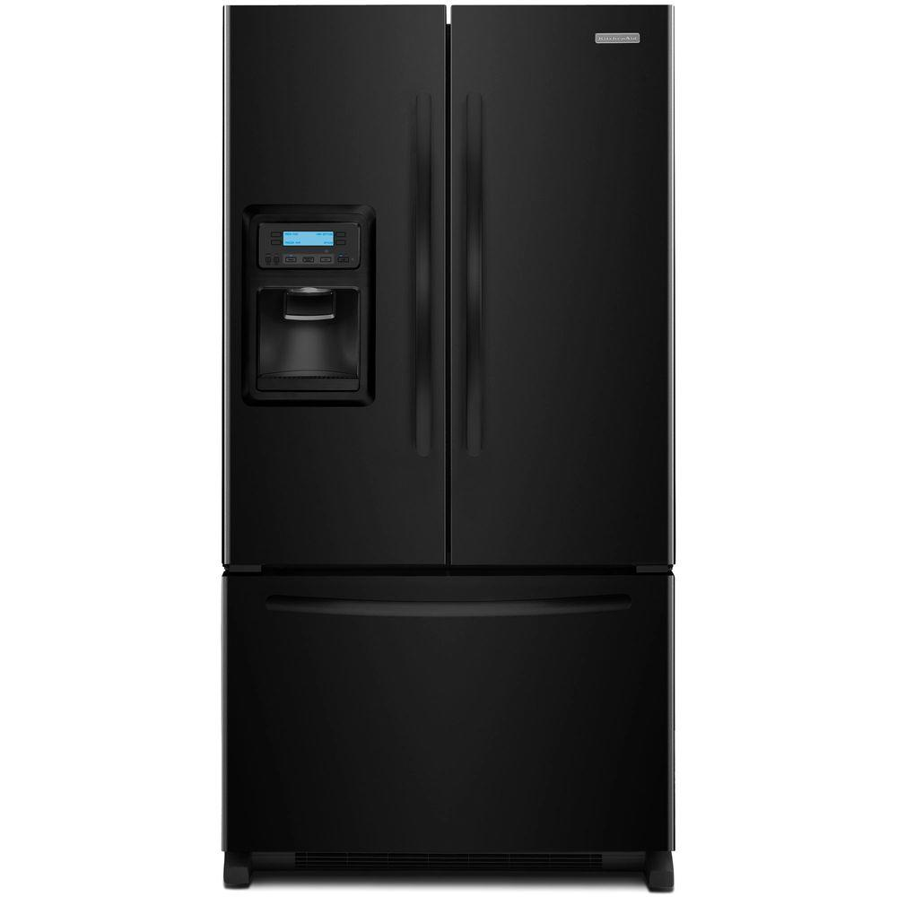 KitchenAid Architect Series II 19.7 cu. ft. French Door Refrigerator in Black, Counter Depth