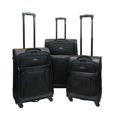Odyssey 3-Piece Black Luggage Set