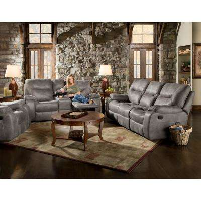 Homestead 3-Piece Steel Sofa, Loveseat and Recliner Living Set
