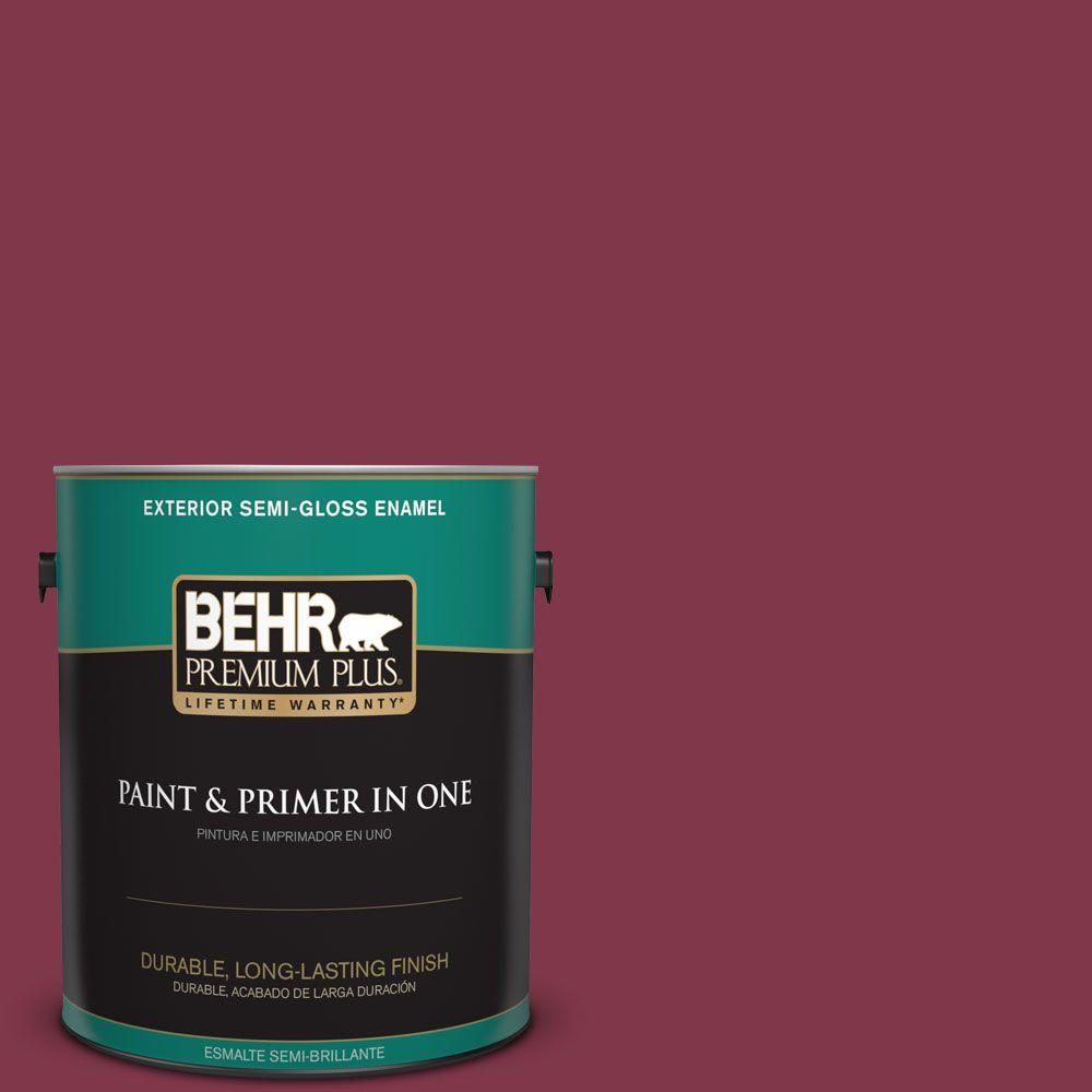 1-gal. #120D-7 Ruby Red Semi-Gloss Enamel Exterior Paint