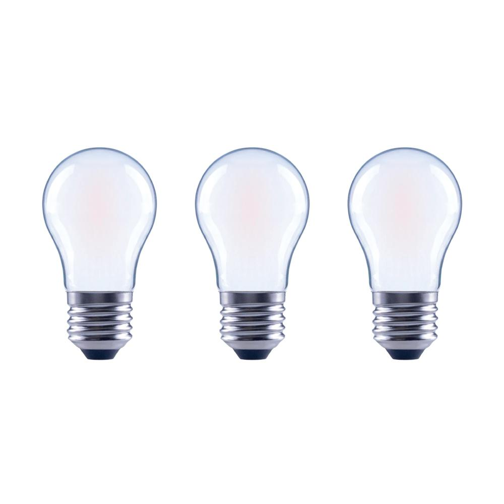 Frosted Light Bulbs >> Ecosmart 60 Watt Equivalent A15 Dimmable Frosted Glass Decorative Filament Vintage Edison Led Light Bulb Daylight 3 Pack