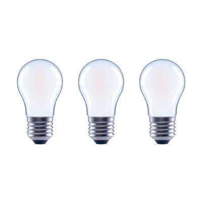 60-Watt Equivalent A15 Dimmable Frosted Glass Decorative Filament Vintage Edison LED Light Bulb Daylight (3-Pack)