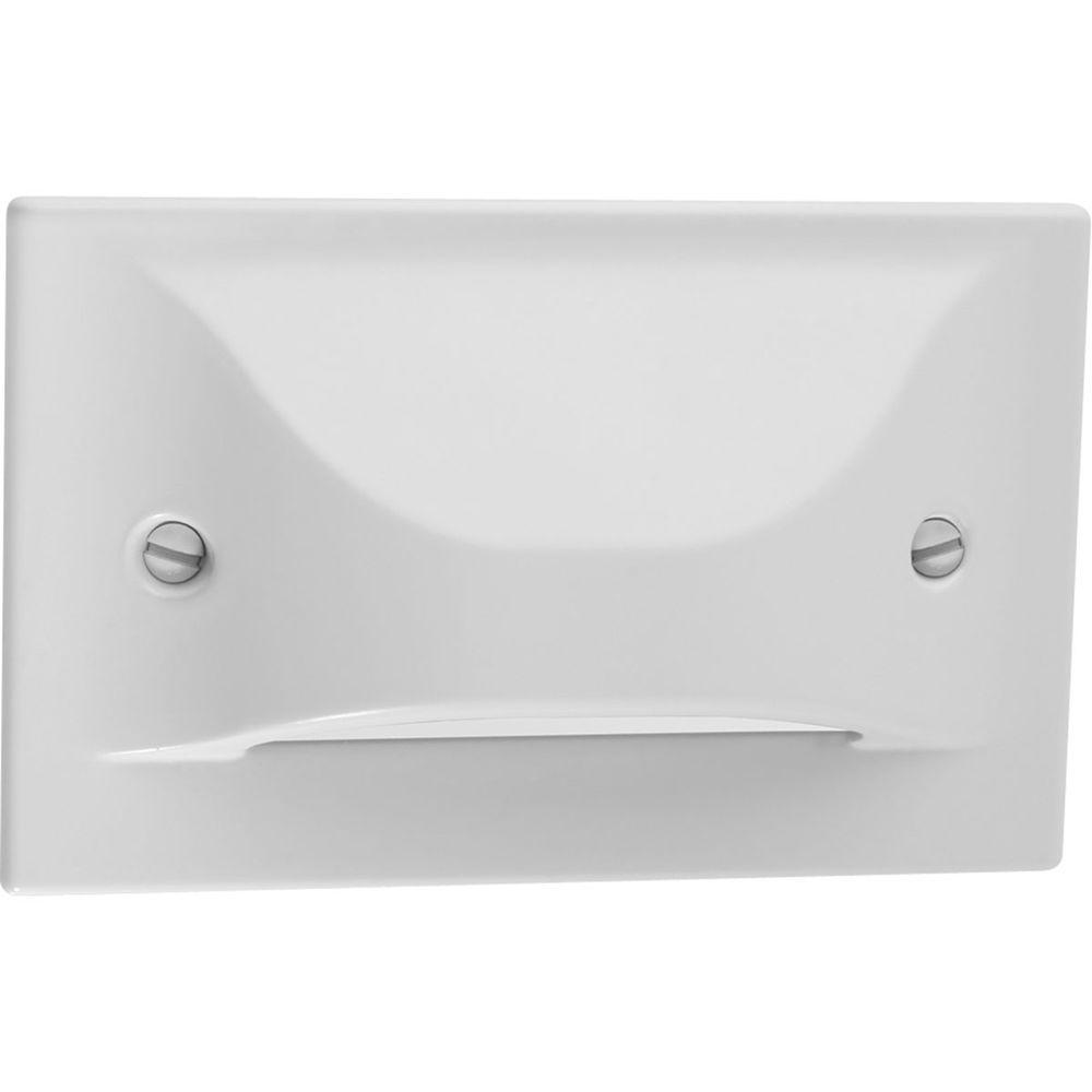 1-Light White LED Step Light/Wall Light