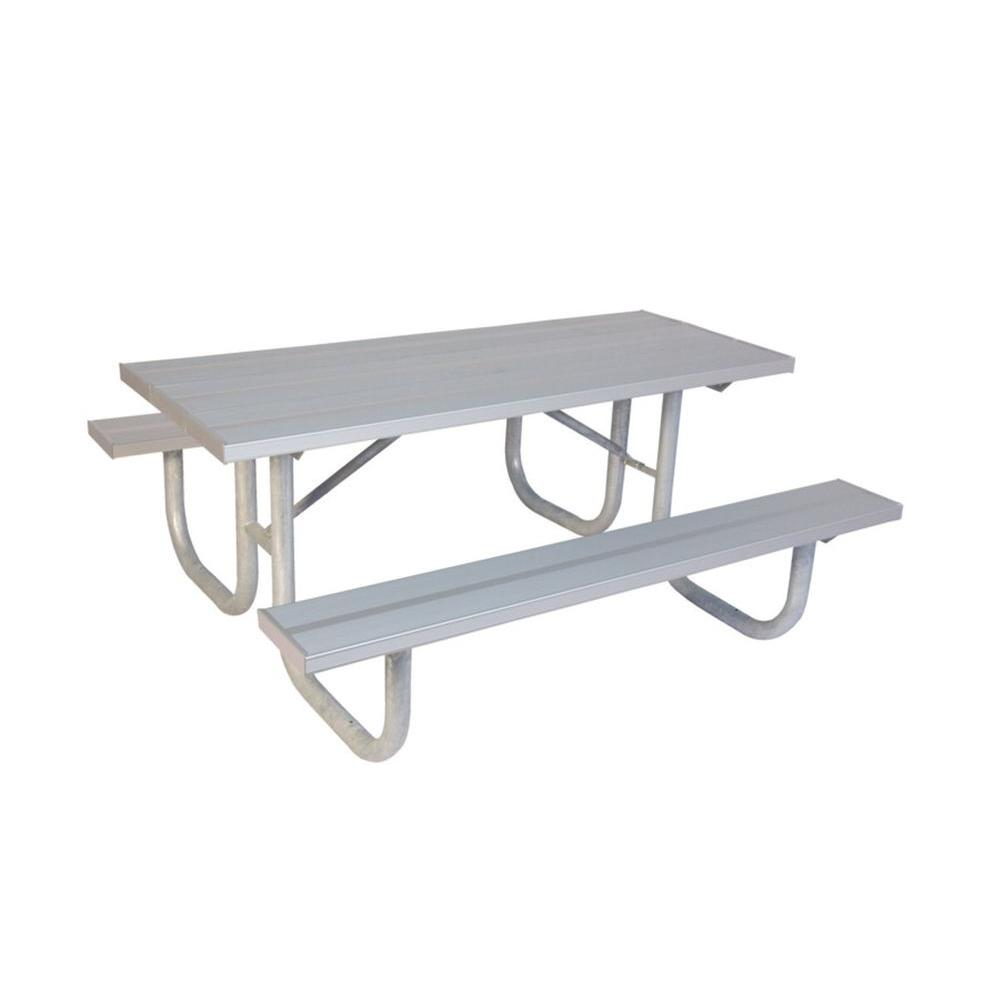 Ultra Play 8 ft. Aluminum Commercial Park Portable Table