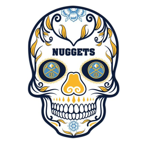 Applied Icon NBA Denver Nuggets Outdoor Skull Graphic- Large NBOS0803