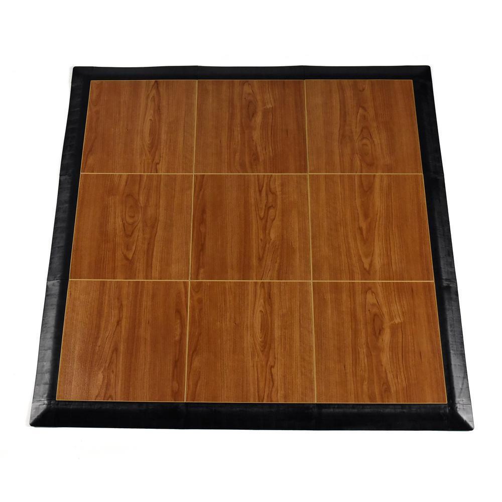 Max Tile 40.75 in. x 40.75 in. x 5/8 in. Walnut Interlocking Vinyl Tile Portable Tap Dance Floor (9 sq. ft. / case)