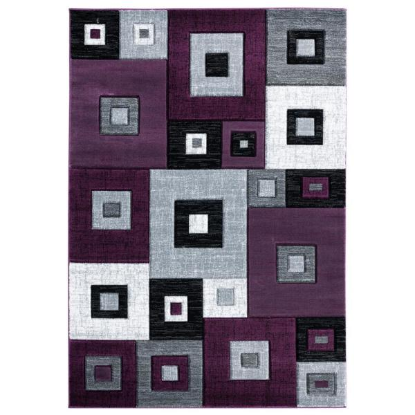 United Weavers Bristol Cicero Burgundy 5 Ft 3 In X 7 Ft 6 In Area Rug 2050 10234 69 The Home Depot