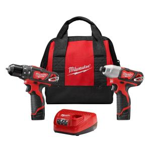 Milwaukee M12 12-Volt Lithium-Ion Cordless Hammer Drill/Impact Driver Combo Kit (2-Tool) W/(2) 1.5Ah... by Milwaukee