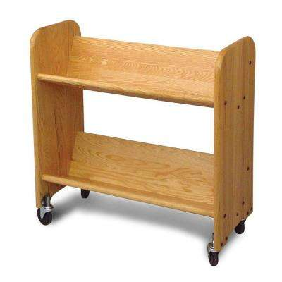 Rol-Rack 2-Shelf Mobile Bookcase