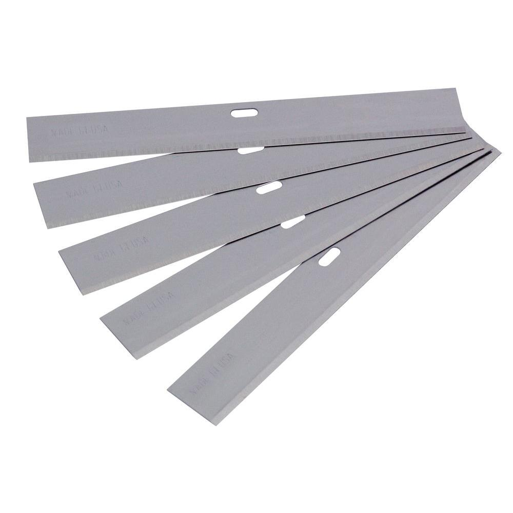 QEP 4 in. Wide Replacement Blade for Razor Scrapers and Strippers (5-Pack)