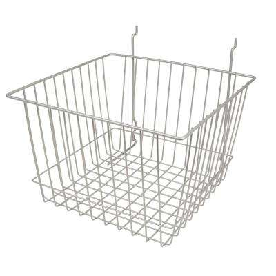 12 in. W x 12 in. D x 8 in. H Chrome Deep Basket