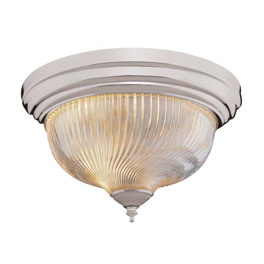 Bel Air Lighting Murano 3-Light Brushed Nickel Flushmount with Clear Shade