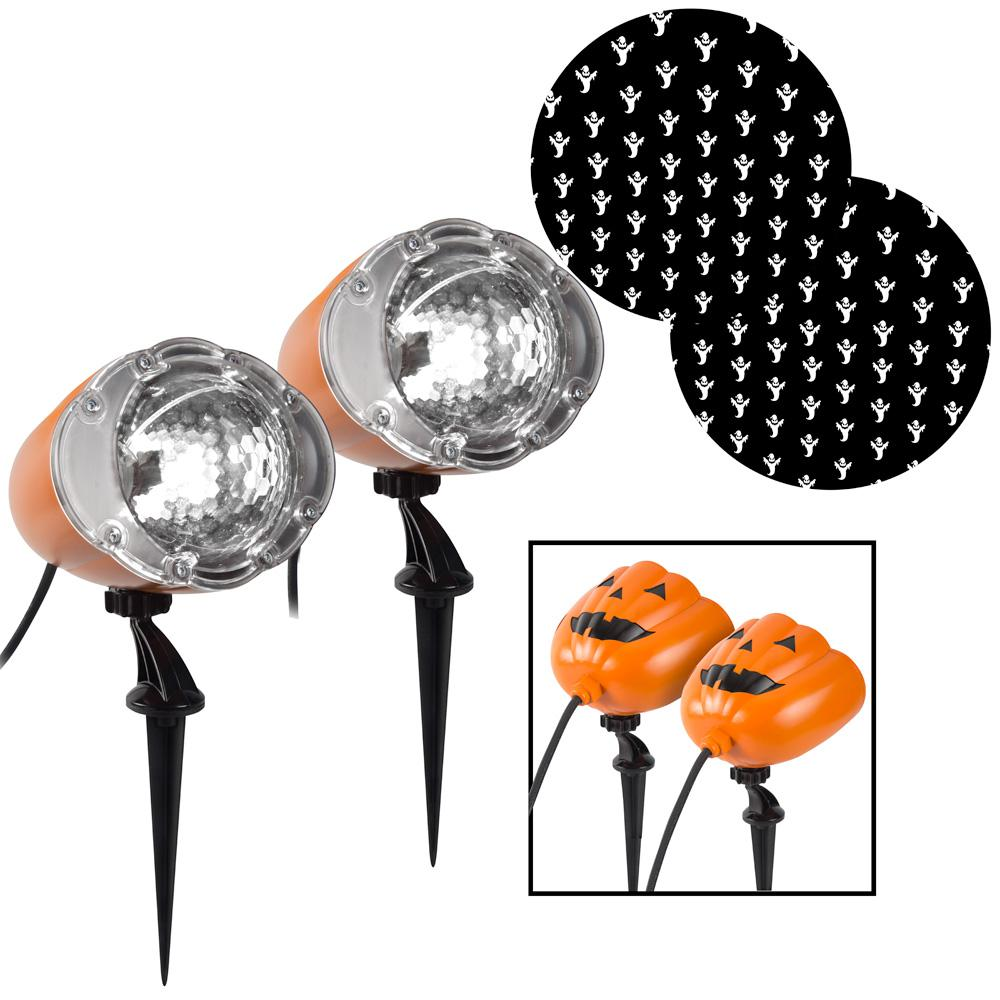 LightShow Halloween Lightshow Projection-Shades of Halloween-Ghost in White (2-Pack)