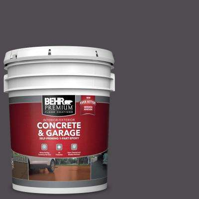 5 gal. #N570-7 Black Elegance Self-Priming 1-Part Epoxy Satin Interior/Exterior Concrete and Garage Floor Paint