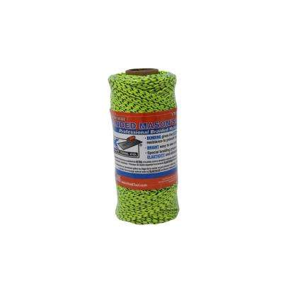 Bonded Braided Mason's Line Tube - 500 ft. in Neon Green