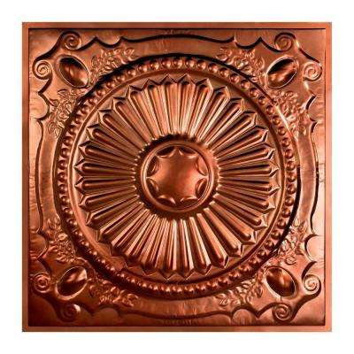 Toronto 2 ft. x 2 ft. Lay-in Tin Ceiling Tile in Vintage Bronze