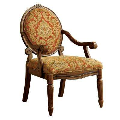 Hammond Ruby and Gold Fabric Arm Chair