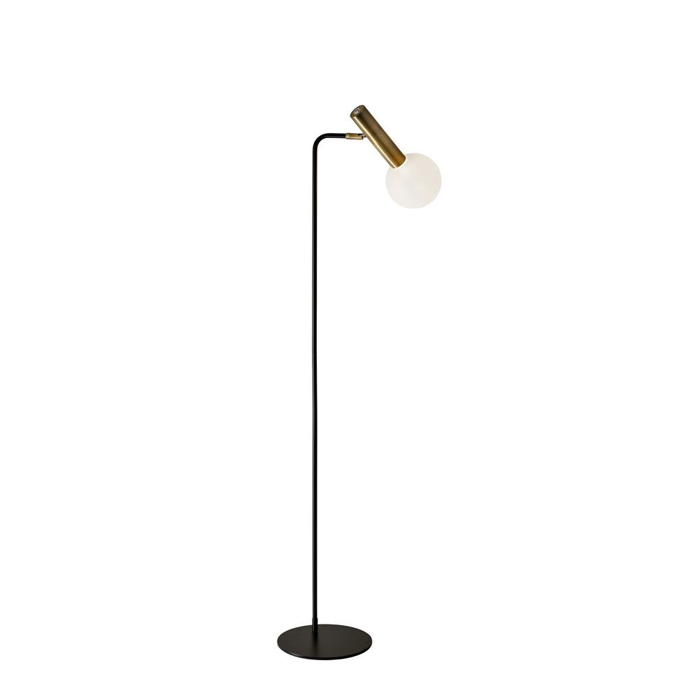 Sinclair 55.5 in. Integrated LED Black Floor Lamp