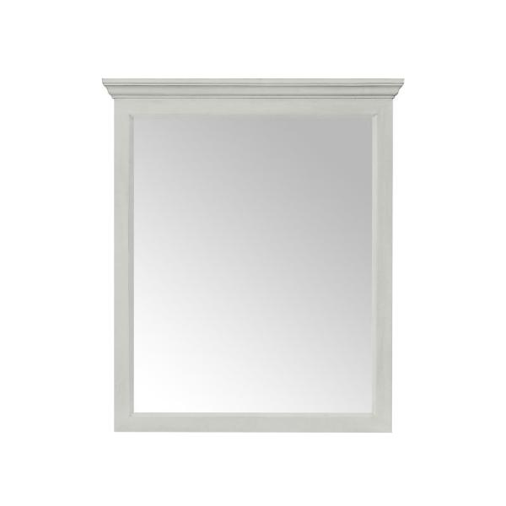 29.00 in. W x 34.00 in. H Framed Rectangular Beveled Edge Bathroom Vanity Mirror in Vintage Grey