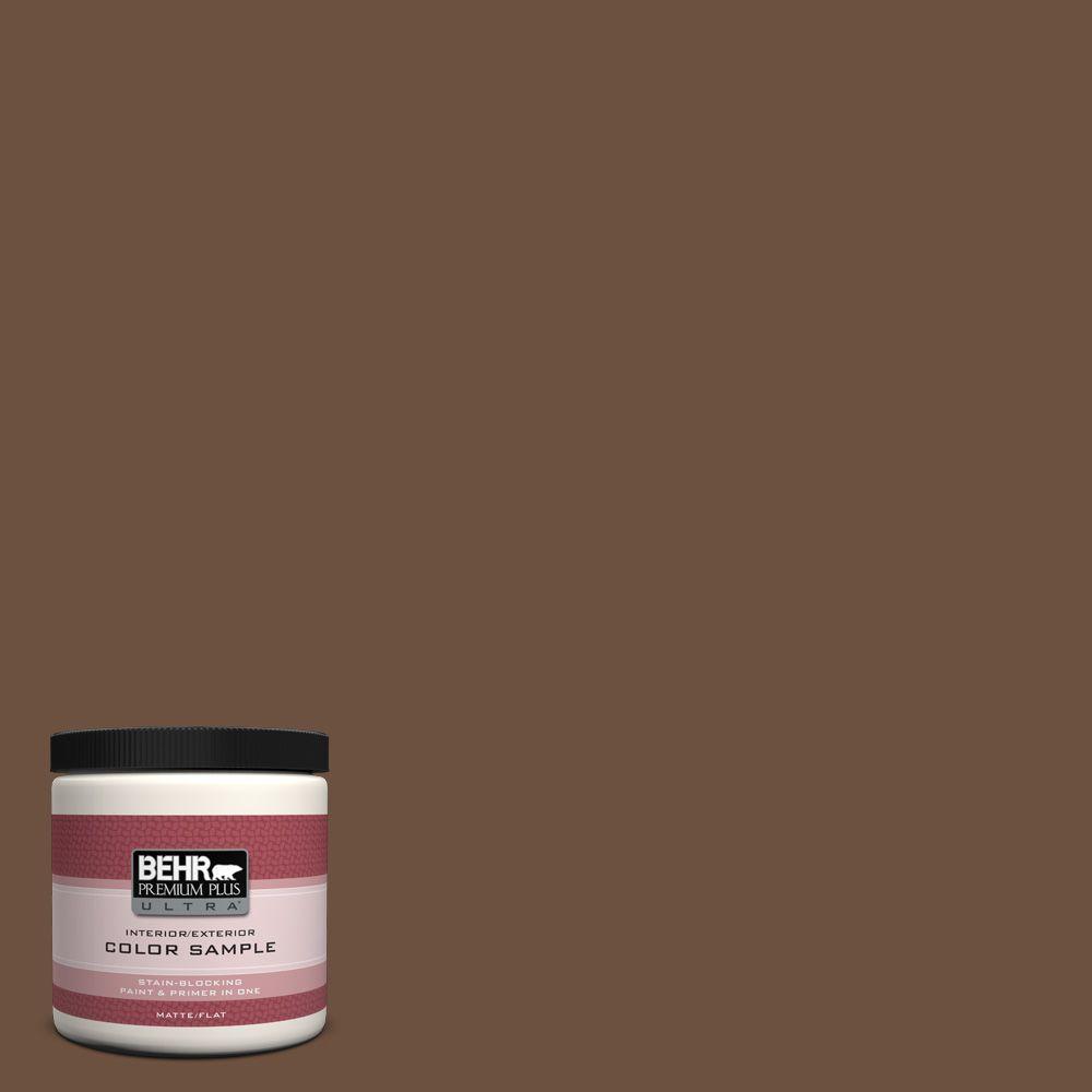 BEHR Premium Plus Ultra 8 oz. #280F-7 Breakfast Blend Interior/Exterior Paint Sample