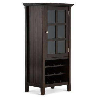 Acadian 12-Bottle Tobacco Brown Bar Cabinet