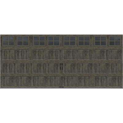 Gallery Collection 16 ft. x 7 ft. 6.5 R-Value Insulated Ultra-Grain Slate Garage Door with SQ24 Window