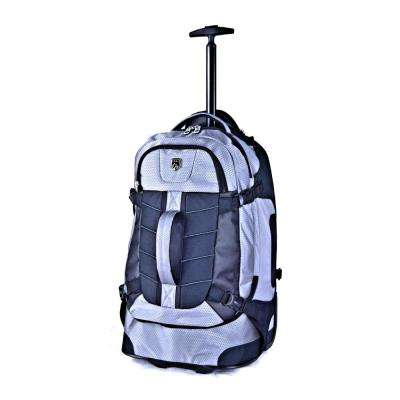 21 in. Silver Multi-Pocket Rolling Backpack with Computer Section