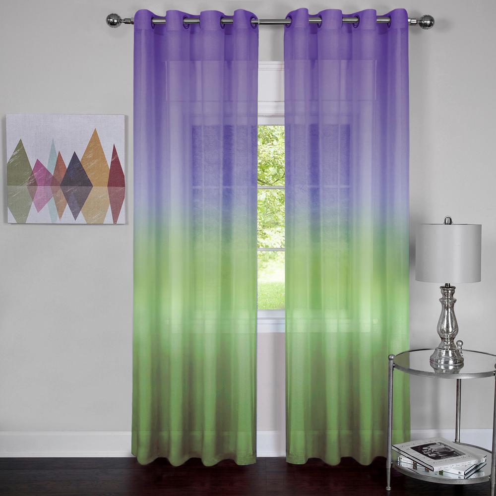 Sheer Grommet Curtain Panel