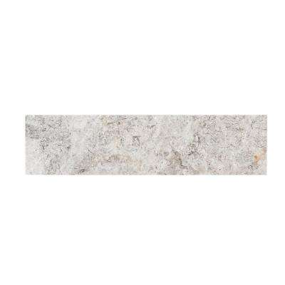 Knight Grey 4 in. x 12 in. x 10 mm Marble Wall Tile (1 sq. ft./ pack)