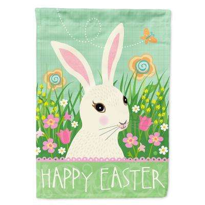 11 in. x 15-1/2 in. Polyester Easter Bunny Rabbit 2-Sided 2-Ply Garden Flag