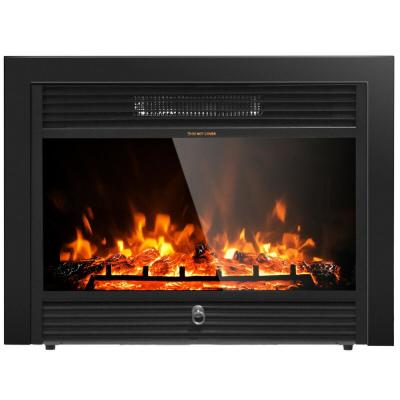 5118 BTU 28.5 in. Unvented Electric Furnace Heater Smokeless Fireplace Embedded Insert Heater Flame
