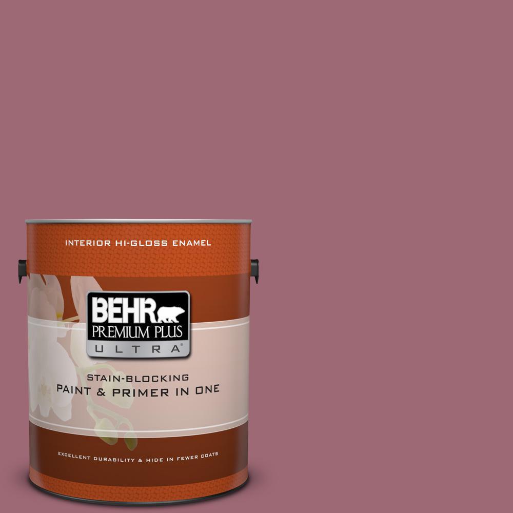 1 gal. #100D-5 Berries and Cream Hi-Gloss Enamel Interior Paint