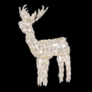 wire frame standing buck 46 237 00 the home depot - Wire Frame Outdoor Christmas Decorations