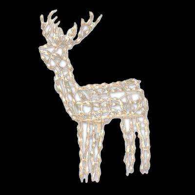48 in wire frame standing buck - Outdoor Deer Christmas Decorations
