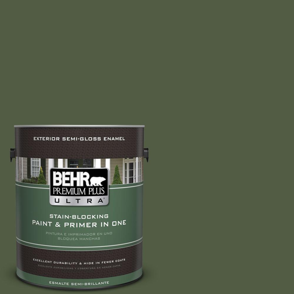 1-gal. #420F-7 Forest Ridge Semi-Gloss Enamel Exterior Paint