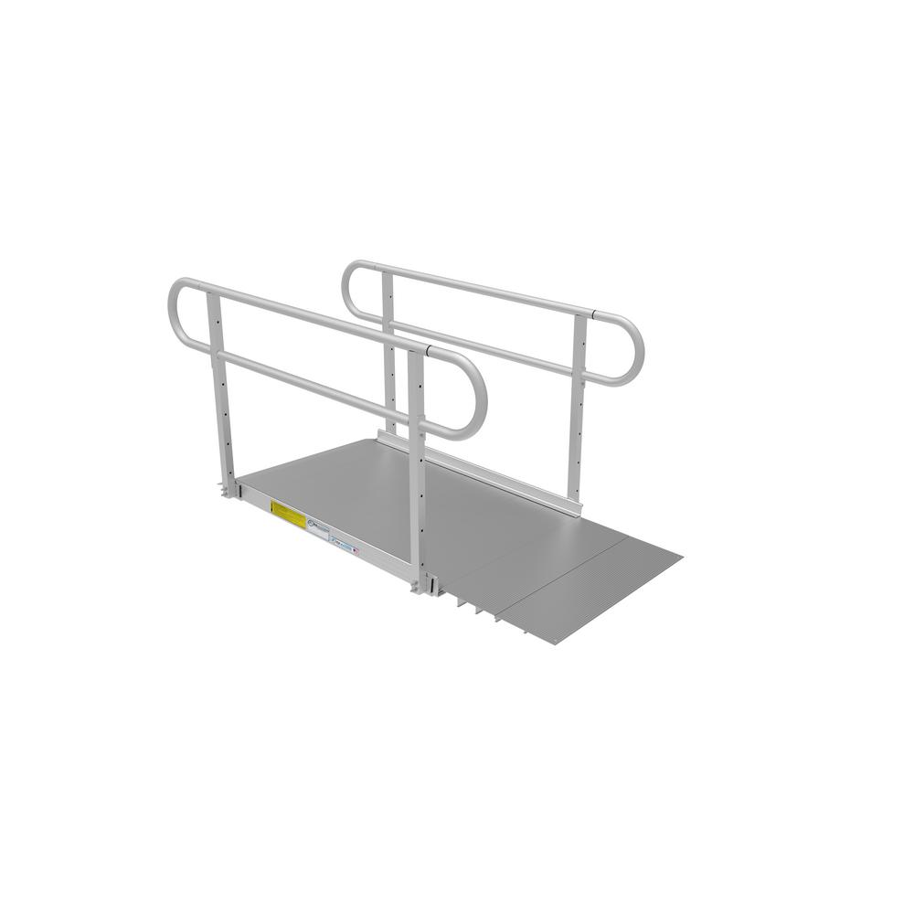 EZ-ACCESS PATHWAY 3G 4 ft. Wheelchair Ramp Kit with Solid Surface Tread and Two-line Handrails
